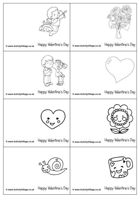 coloring pages for valentines cards mini colouring cards