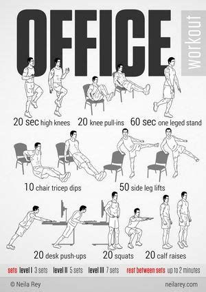 The Office Breaks Back by Office Workout Infographic Will