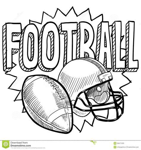 doodle do futebol esbo 231 o do futebol americano