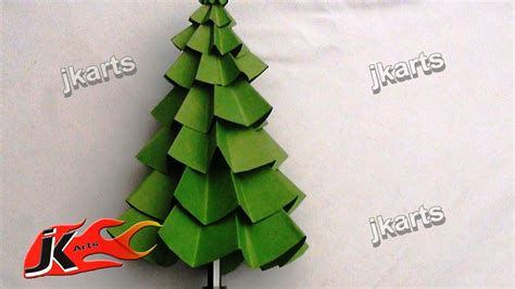 diy how to make christmas tree paper craft for kids jk