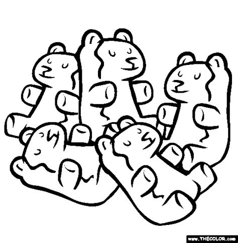gummy bear clipart coloring pencil and in color gummy