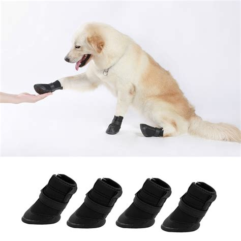 shoes for dogs 4pcs black waterproof shoes boots shoes for pets small dogs puppy mc ebay