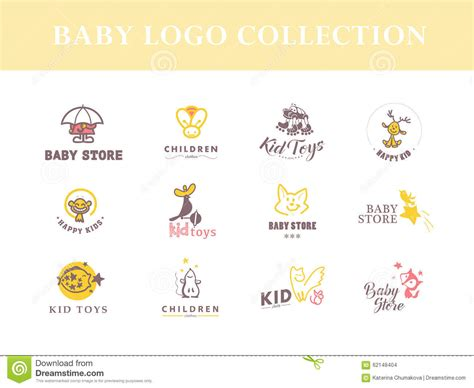 vector collection of baby logo stock vector image 62148404