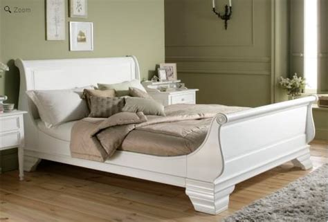 White Wooden Sleigh Bed White Wooden Sleigh Bed Homehighlight Co Uk
