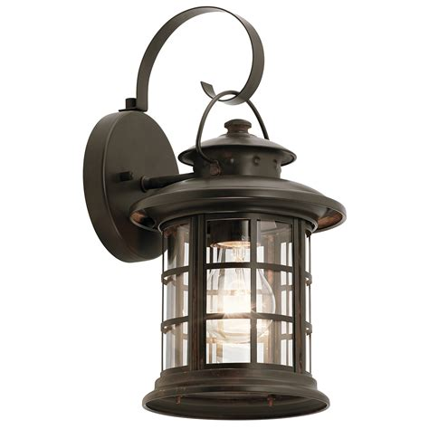 Hton Bay 1 Light Rustic Iron Outdoor Wall Mount Lantern Rustic Outdoor Lights
