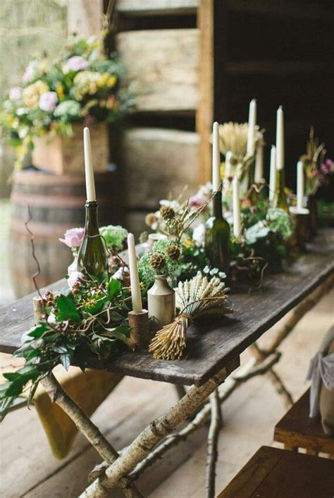 rustic tablescapes rustic tablescape party pinterest