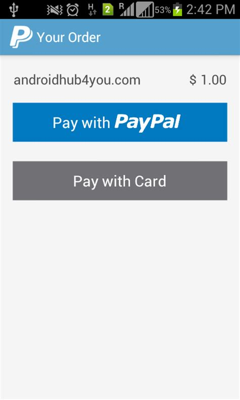 paypal android app cdacians india android paypal gateway exle paypal demo in android pay inside app using