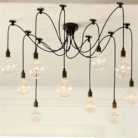 Diy Bulb Chandelier Free Shipping Free Shipping New Vintage Retro Chandelier Edison Diy Lighting Ls Pendant