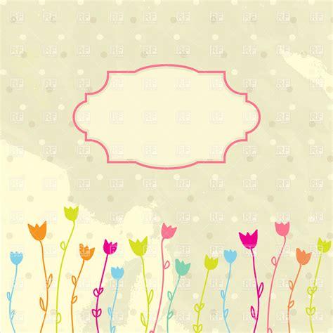 frame design bg vintage frame and simple tulips on worn background royalty
