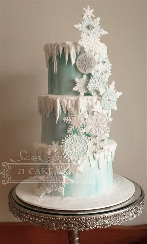 Frozen Snow Ake Cake Cakecentral M