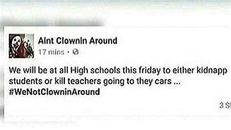 Dispute Letter To Apartment Complex Threat Posted On Clown Page Prompts Letters To Parents