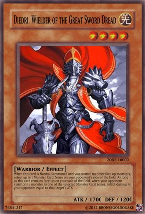 Gift Card Monster - first cards in a while monster card zone effects advanced card design yugioh card