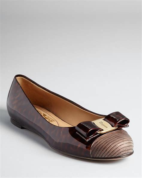 Readt Flat Shoes Salvatore Ferragamo salvatore ferragamo flats varina bow bloomingdale s