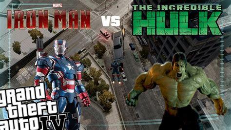 mod gta 5 pc hulk gta iv iron man mod hulk mod iron patriot vs the