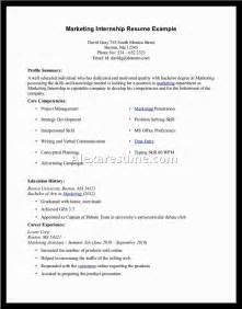 internship resume sle document