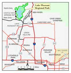 lake pleasant arizona map