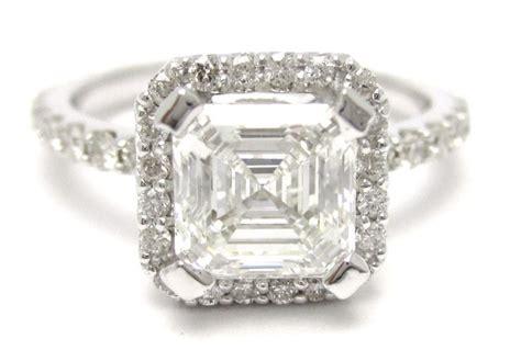 2 25ct asscher cut antique engagement ring