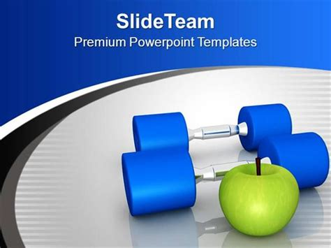 powerpoint templates free fitness fitness objects exercise fruits health theme powerpoint
