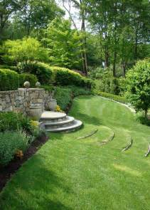 reader photo curved terrace stairs tame a slope fine