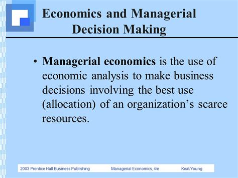 the economics of managerial decisions what s new in economics books chapter 1 introduction ppt