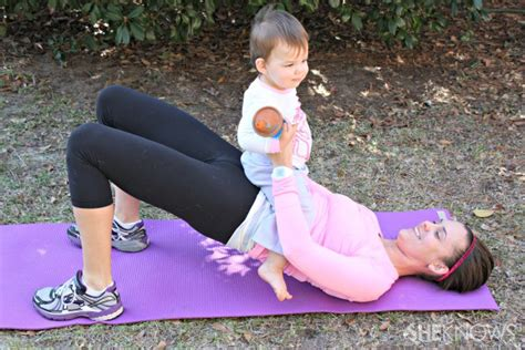 Nature Bridge Baby Kitten meizitang strong version workout with baby in tow