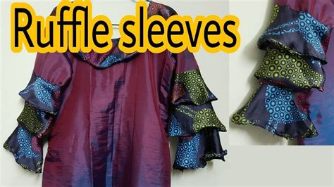 Sleeve Stitching Top ruffle sleeves top cutting stitching sewing tutorial