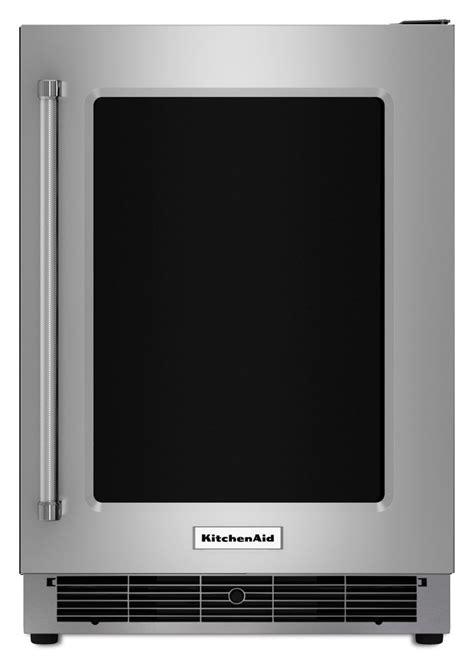 Kitchenaid Refrigerator Glass Door Kitchenaid 5 1 Cu Ft Undercounter Refrigerator With
