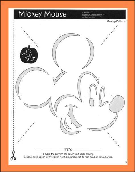 mickey mouse vire pumpkin template plantillas gratis para decorar calabazas de