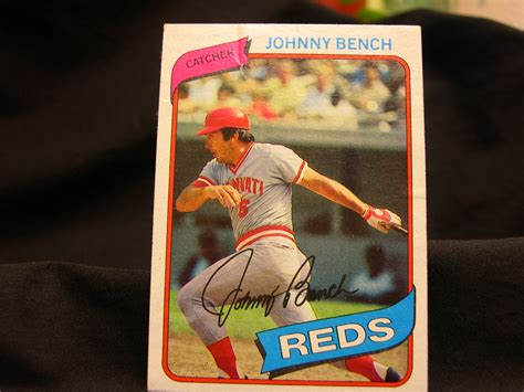 johnny bench cards 1980 johnny bench baseball cards topps 100