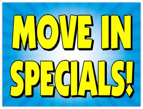 Apartment With Specials Move In Specials Sign 103 Apartment Sign Templates
