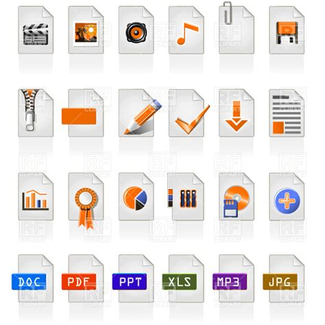 what file format is video clip file type and format icons royalty free vector clip art