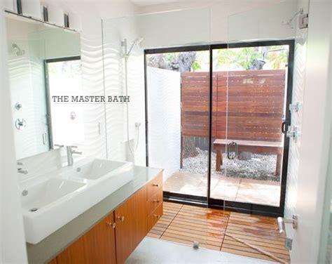 indoor shower  sliding doors   outdoor shower