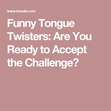 17 Best Ideas About Tongue 17 Best Ideas About Tongue Twisters On