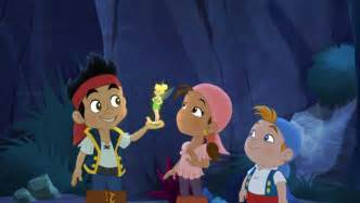 Tinker bell to visit jake and the never land pirates animation