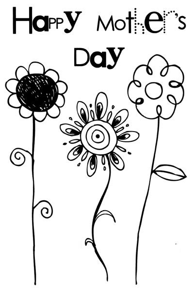 free printable mothers day cards templates printable flower s day card makoodle
