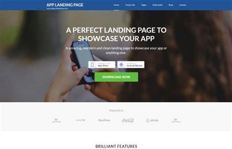 theme wordpress landing page free app showcase and app landing wordpress themes for may 2017