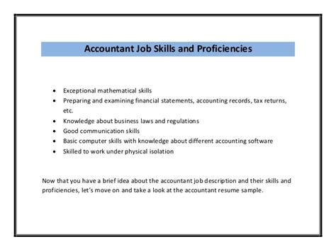 Accounting Skills Resume by Accounting Resume Sle Pdf