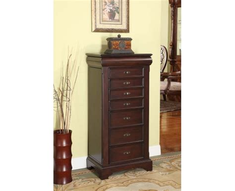 locking jewelry armoire louis alexandre 7 drawer locking jewelry armoire product