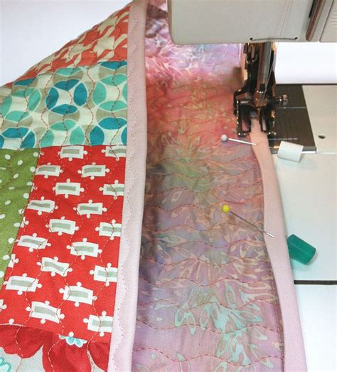 How To Finish Quilt Binding By Machine by Christa S Quilt Along 1 6 Machine Binding To Finish