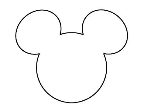 Mickey Mouse Ears Head Outline Disneyland Disney World Trips Vacations Mickey Mouse Template Mickey Ear Template