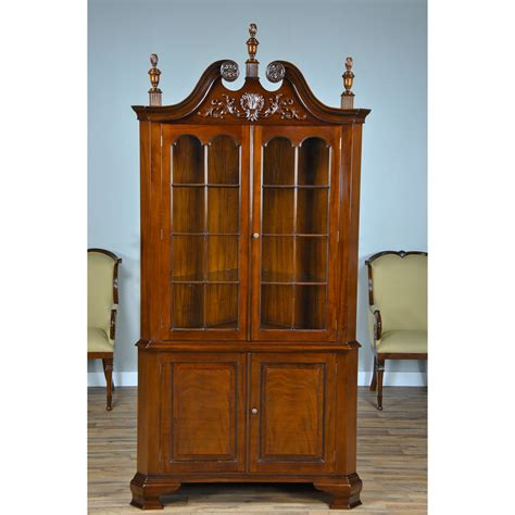 carved corner cabinet niagara furniture mahogany dining room