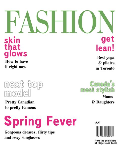 blank fashion magazine cover templates pictures to pin on