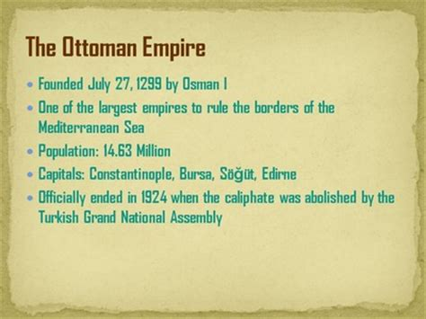 information about ottoman empire quot facts about the ottoman empire quot