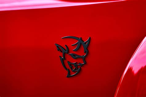 logo dodge challenger it s here every detail on the 9 second dodge srt demon