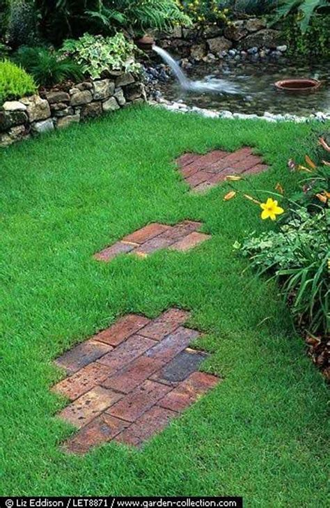 backyard stepping stones diy ideas for creating cool garden or yard brick projects
