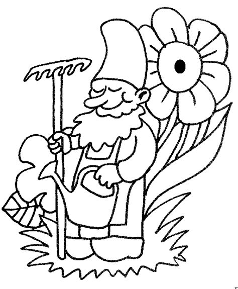 garden gnome coloring pages drawings coloring pages