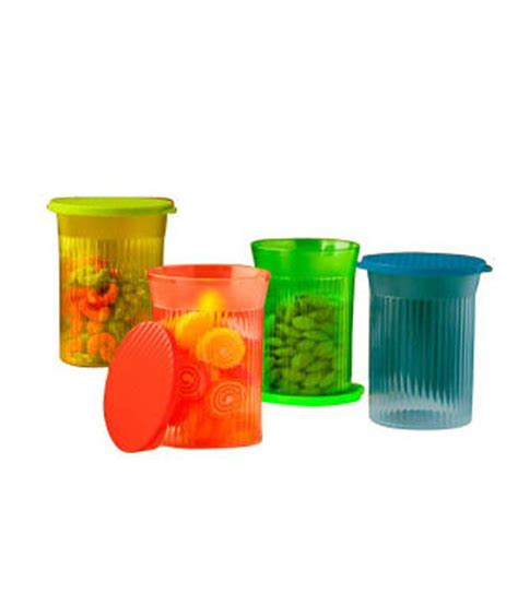 Tupperware Family Mate tupperware multicolor family mate small plastic containers set of 4 available at snapdeal