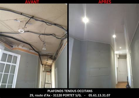 Installation Plafond Tendu by Comment Installer Des Spots Dans Un Faux Plafond Tendu