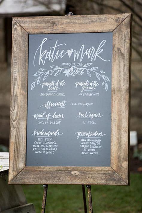 chic rustic chalkboard wedding sign ideas