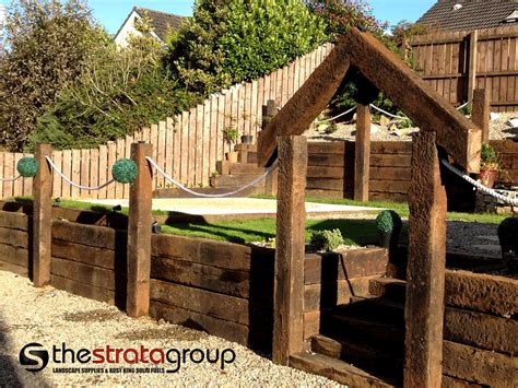 Railway Sleepers Ni by The Strata Landscape Suppliers Cookstown